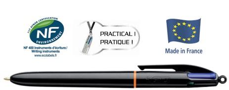 Descriere Pix cu mecanism si 4 culori, 1.0mm, BIC 4Colours PRO