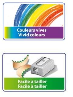 Descriere Creioane colorate, 1/1, 24 culori/set, BIC TROPICOLORS2