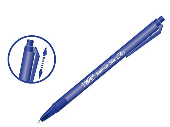 Descriere Pix cu mecanism, 1.0mm, albastru, BIC Round Stic Clic