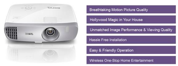 Descriere Videoproiector 3D BenQ W1110, Full HD, Home Cinema