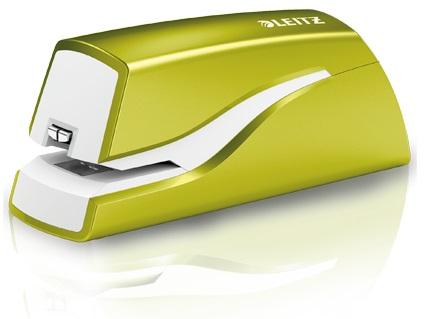 Descriere Capsator electric cu baterii, 10 coli, verde metalizat, LEITZ WOW