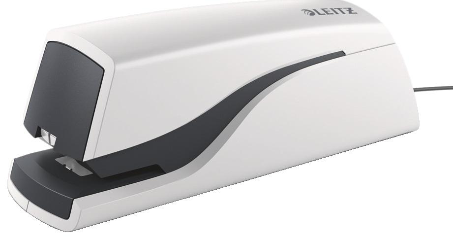 Descriere Capsator electric, max. 10 coli, alb perla, LEITZ 5532