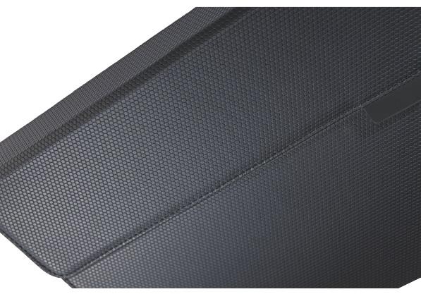 Descriere Carcasa cu capac si tastatura pentru noul iPad / iPad 2, QWERTY, negru, LEITZ Complete Tech Grip
