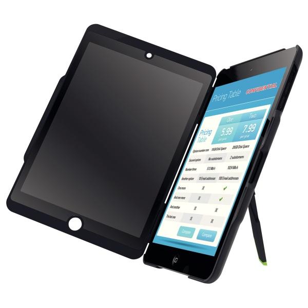 Descriere Carcasa cu filtru de confidentialitate portrait pentru iPad mini, negru, LEITZ Complete Privacy