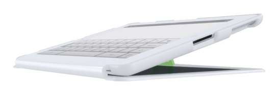 Descriere Carcasa cu filtru de confidentialitate portrait pentru iPad mini, alb, LEITZ Complete Privacy