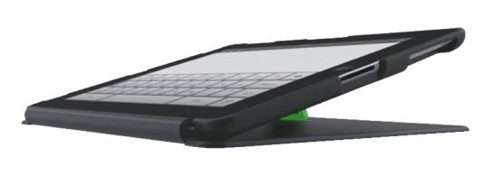 Descriere Carcasa cu filtru de confidentialitate portrait pentru noul iPad/iPad 2, negru, LEITZ Complete Privacy