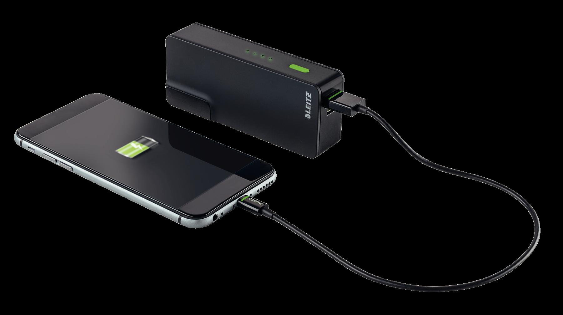 Descriere Incarcator si baterie, port USB, 3000mAh, LEITZ Complete