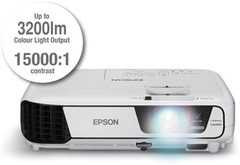 Descriere Videoproiector EPSON EB-W31, WXGA, 3200 lumeni, HDMI