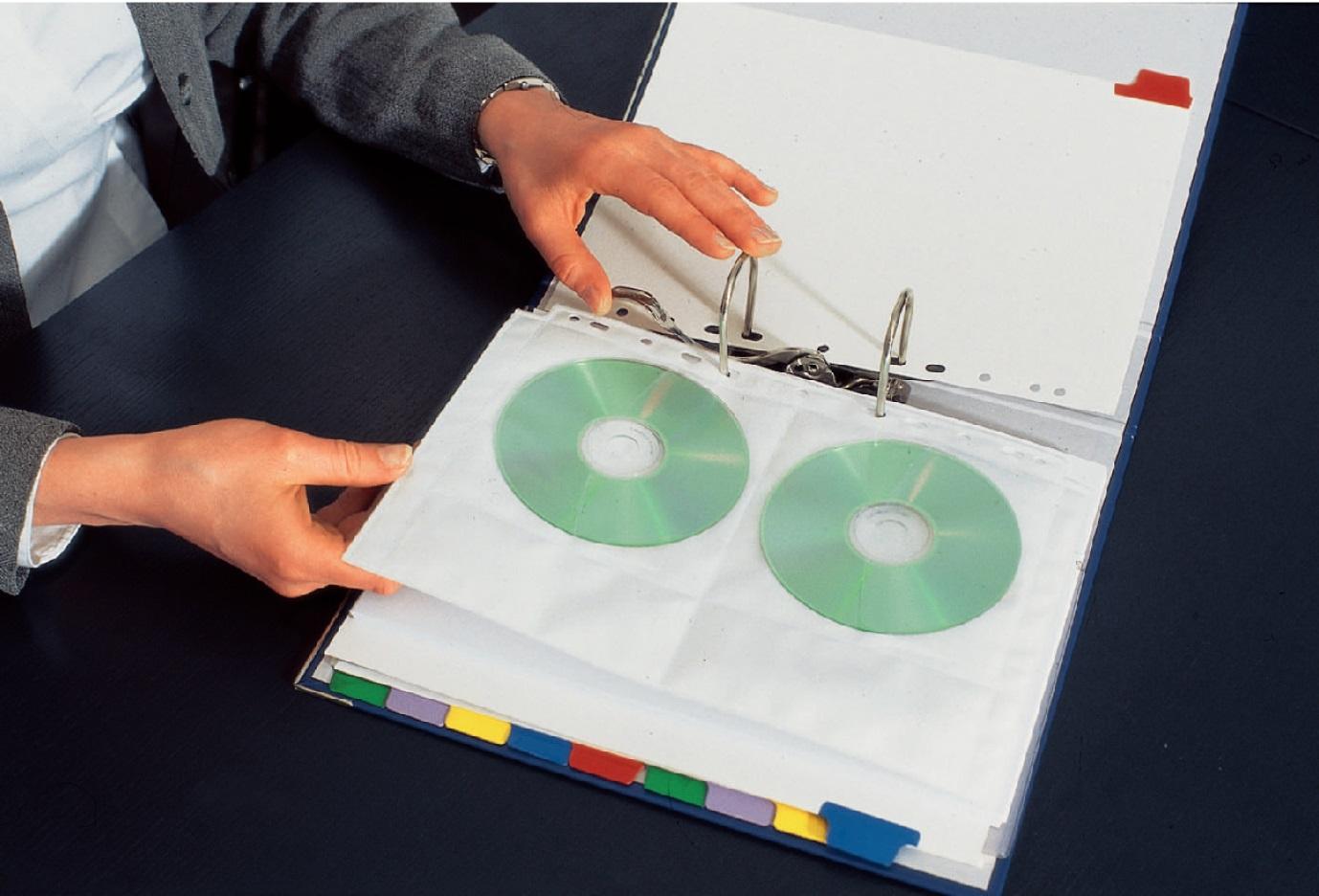 Descriere File din plastic, A4, transparent, pentru CD/DVD, ESSELTE