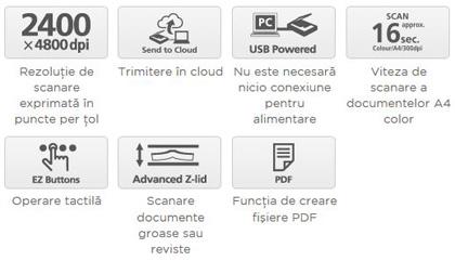 Descriere Scanner CANON CanoScan LiDE 120, A4, USB, negru