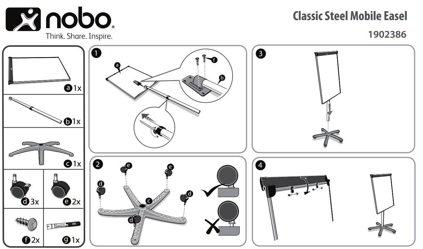 instructiuni de asamblare flipchart