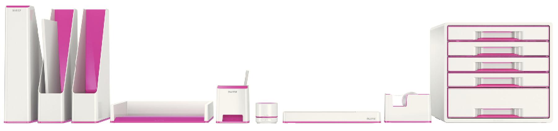 Descriere Tavita documente, culori duale, roz metalizat, LEITZ WOW