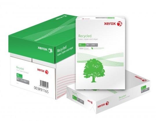 Descriere Hartie reciclata A4, 80 g/mp, 500 coli/top, XEROX Recycled