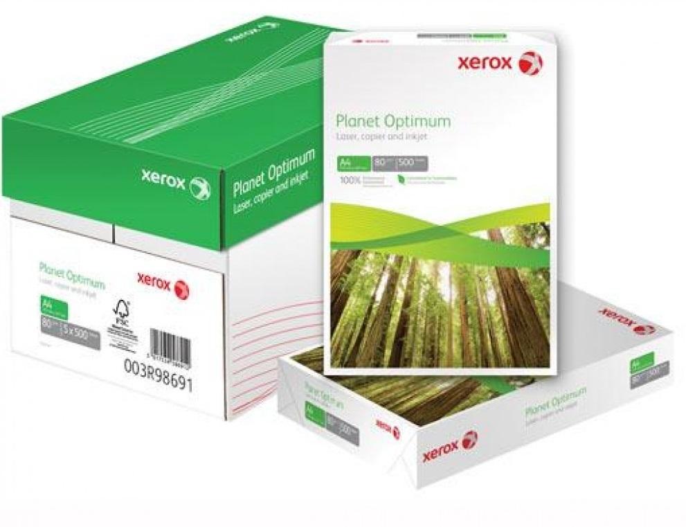 Descriere Hartie reciclata A4, 80 g/mp, 500 coli/top, XEROX Planet Optimum