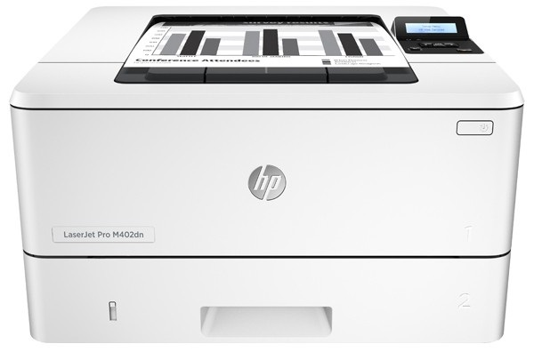 Descriere Imprimanta laser monocrom HP LaserJet Pro M402dn, A4, USB, Retea, alb