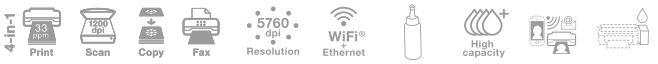 Descriere Multifunctional inkjet color EPSON L565 CISS, A4, USB, Wi-Fi, Retea
