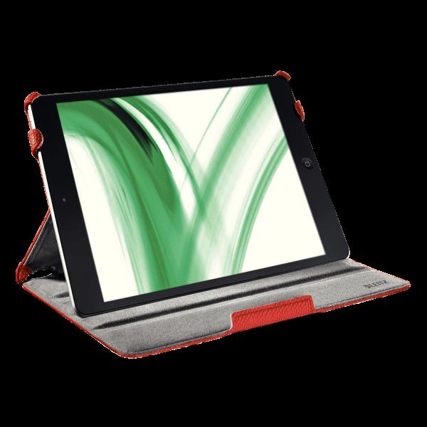 Descriere Carcasa cu capac pentru iPad Air, rosu, LEITZ Complete Smart Grip
