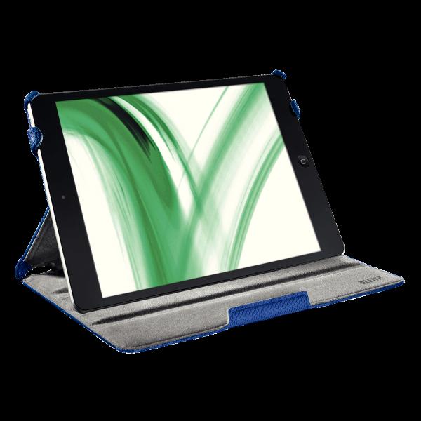 Descriere Carcasa cu capac pentru iPad Air, albastru, LEITZ Complete Smart Grip