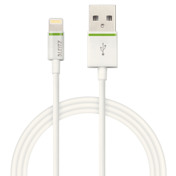 Descriere Cablu de date - USB, 1m, alb, LEITZ Complete Lightning