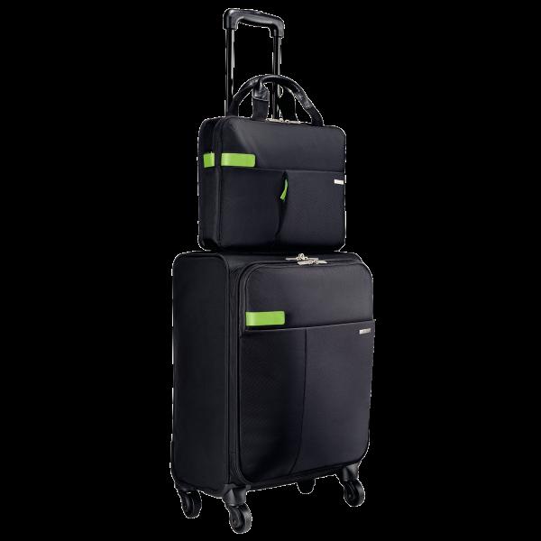 Descriere Geanta cu 4 rotile, negru, LEITZ Smart Traveller