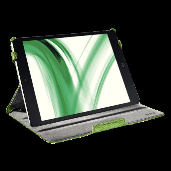Descriere Carcasa cu capac pentru iPad Air, verde, LEITZ Complete Smart Grip