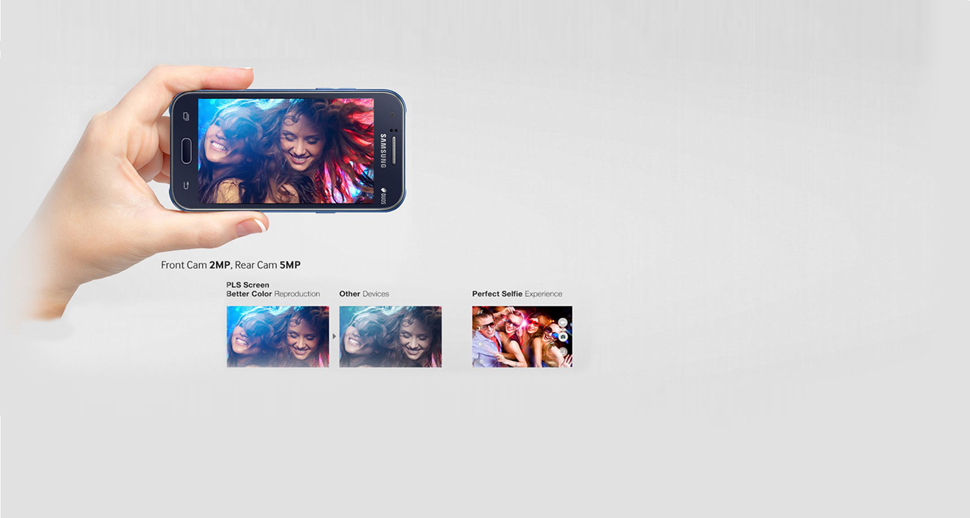 Descriere Smartphone SAMSUNG Galaxy J1, Dual Sim, Blue