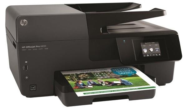 Descriere Multifunctional inkjet color HP Officejet Pro 6830, A4, USB, Retea, Wi-Fi, RJ-11