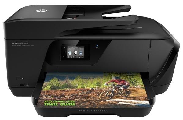 Descriere Multifunctional inkjet color HP OfficeJet 7510 Wide Format All-in-One, A3, USB, Retea, Wi-Fi