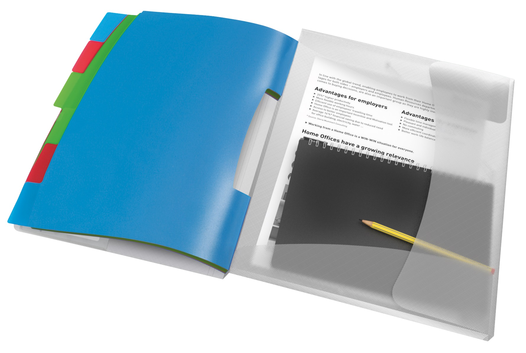 Descriere Mapa cu separatoare, 12 separatoare, PP,  diverse culori, Esselte VIVIDA