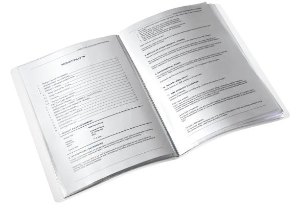 Descriere Mapa de prezentare, A4, 20 de folii , albastru metalizat , LEITZ WOW