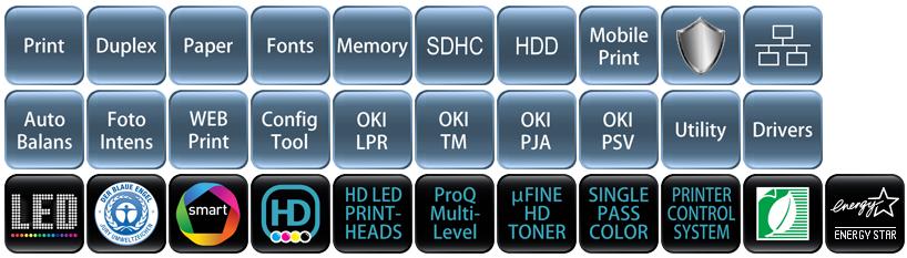 Descriere Imprimanta laser color OKI LED C822dn, A3, USB, Retea, Duplex