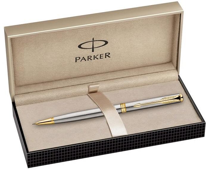 Descriere Creion mecanic, PARKER Sonnet Stainless Steel GT
