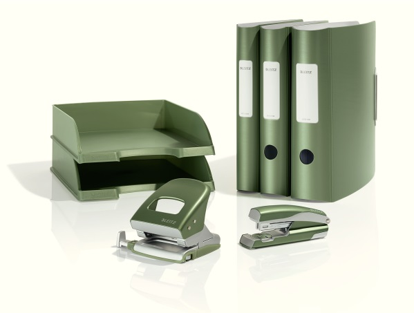 Descriere Perforator metalic de birou, pentru maxim 30 coli, fistic, LEITZ Style 5006 NeXXt Series
