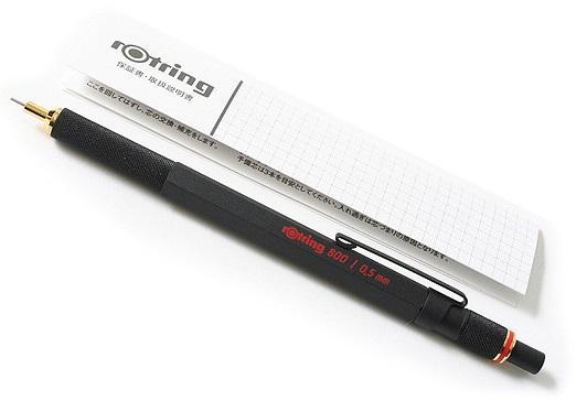 Descriere Creion mecanic, 0.5mm, negru, ROTRING 800