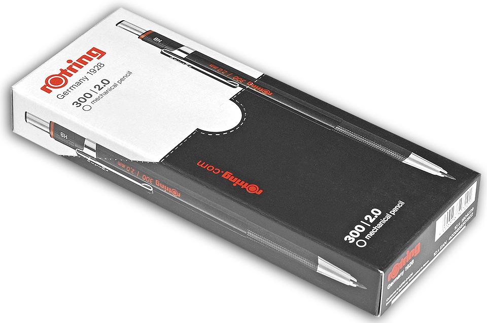 Descriere Creion mecanic, 2.0mm, negru, ROTRING 300