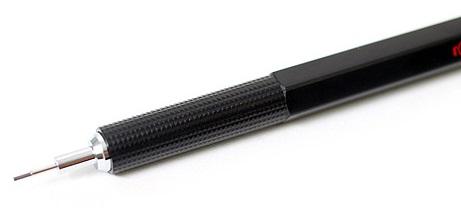 Descriere Creion mecanic, 0.7mm, negru, ROTRING 300