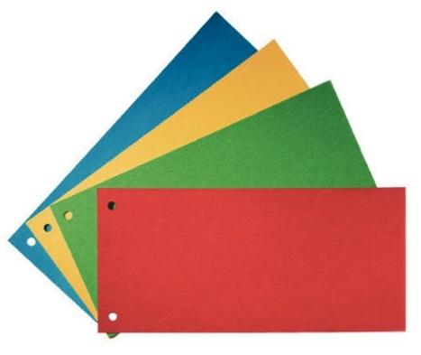 Descriere Separatoare din carton, cu 2 perforatii, 100 buc./set, A4, albastru, Esselte