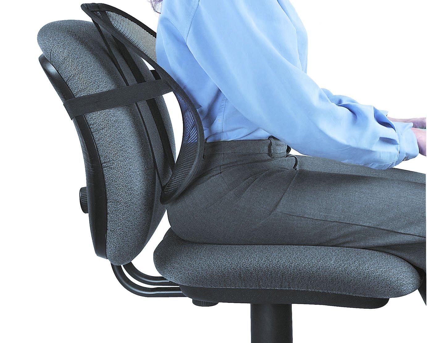 Descriere Suport ergonomic pentru spate, FELLOWES Mesh