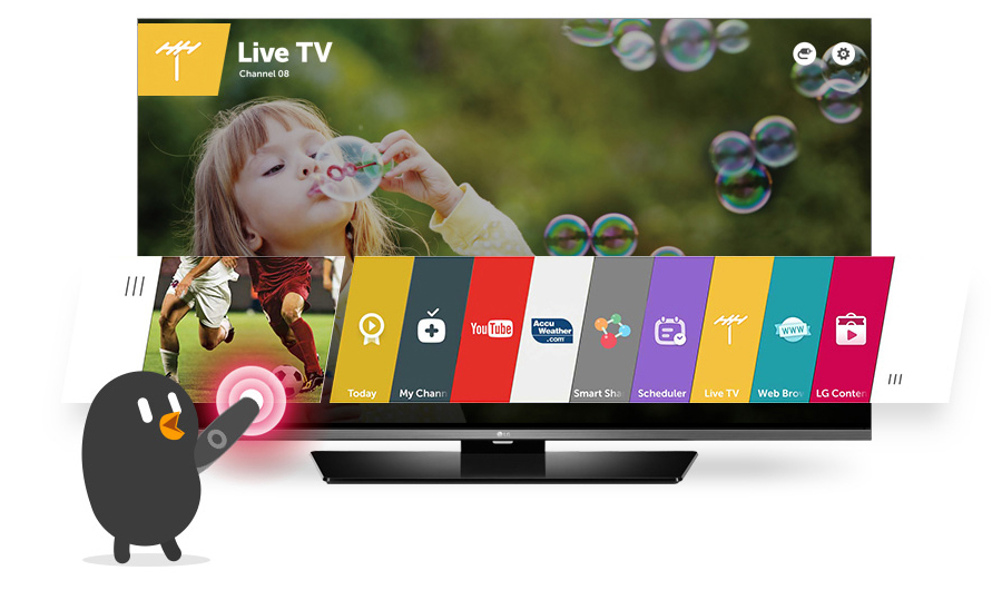 "Descriere Televizor LED LG 40LF630V 40"", Full HD, Smart TV, webOs 2.0, IPS, 100 Hz, Triple XD Engine, WiDi, WiFi Direct, CI+"