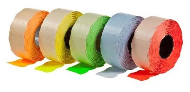 Descriere Etichete autoadezive pt. marcatoare, 26 x 16mm, 1000 etichete/rola, verde fluorescent, PRIX