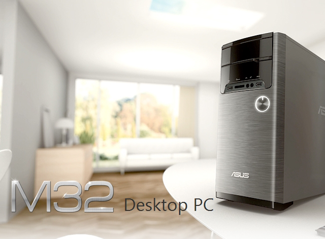 Descriere Desktop PC ASUS M32AD-RO057D, Procesor Intel® Core™ i5-4460 3.2GHz Haswell, 4GB, 1TB HDD, GeForce GT 745 4GB, Free Dos