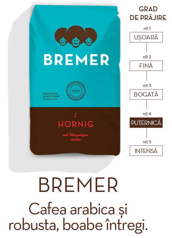 Descriere Cafea boabe, 500gr, J. HORNIG Bremer