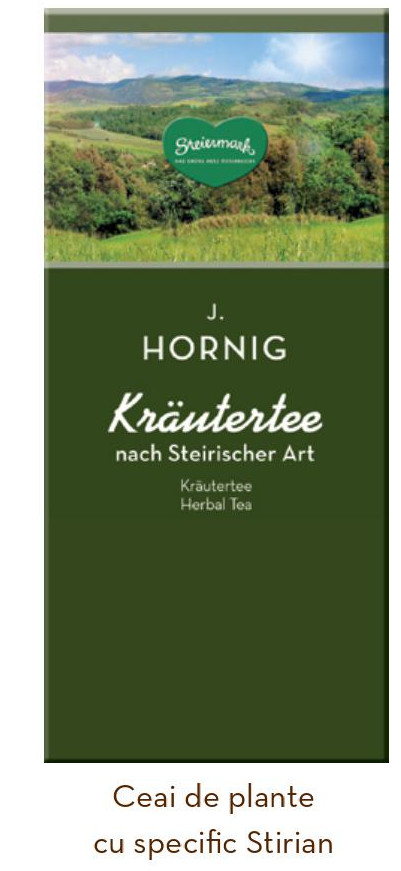 Descriere Ceai de plante stirian, 25 plicuri/cutie, J. HORNIG