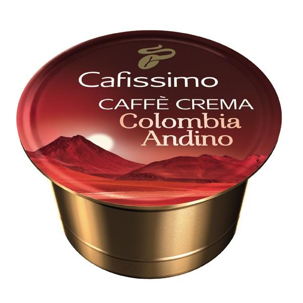Descriere Capsule cafea, 10 capsule/cutie, Caffe Crema, TCHIBO Cafissimo Columbia Andino