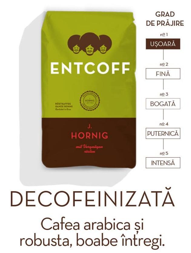 Descriere Cafea boabe decofeinizata, 500gr, J. HORNIG Entcoff