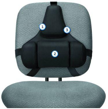 Descriere Suport ergonomic pentru spate, FELLOWES Professional Series
