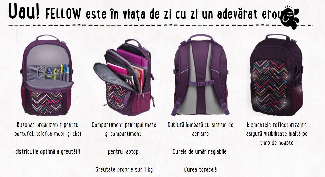 Descriere Rucsac ergonomic, HERLITZ Be.Bag Fellow Ornament