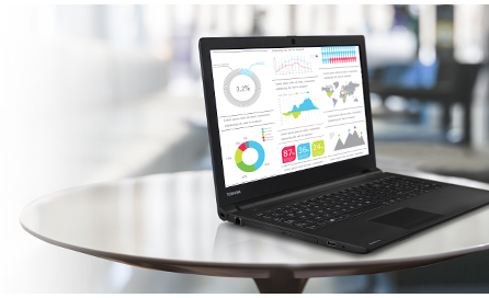 "Descriere Laptop TOSHIBA Satellite Pro R50-C-100 Procesor Intel® Core™ i3-5005U 2.00 GHz, 15.6"", 4GB, 500GB, Win7 Pro 64 + Win8.1 Pro 64"
