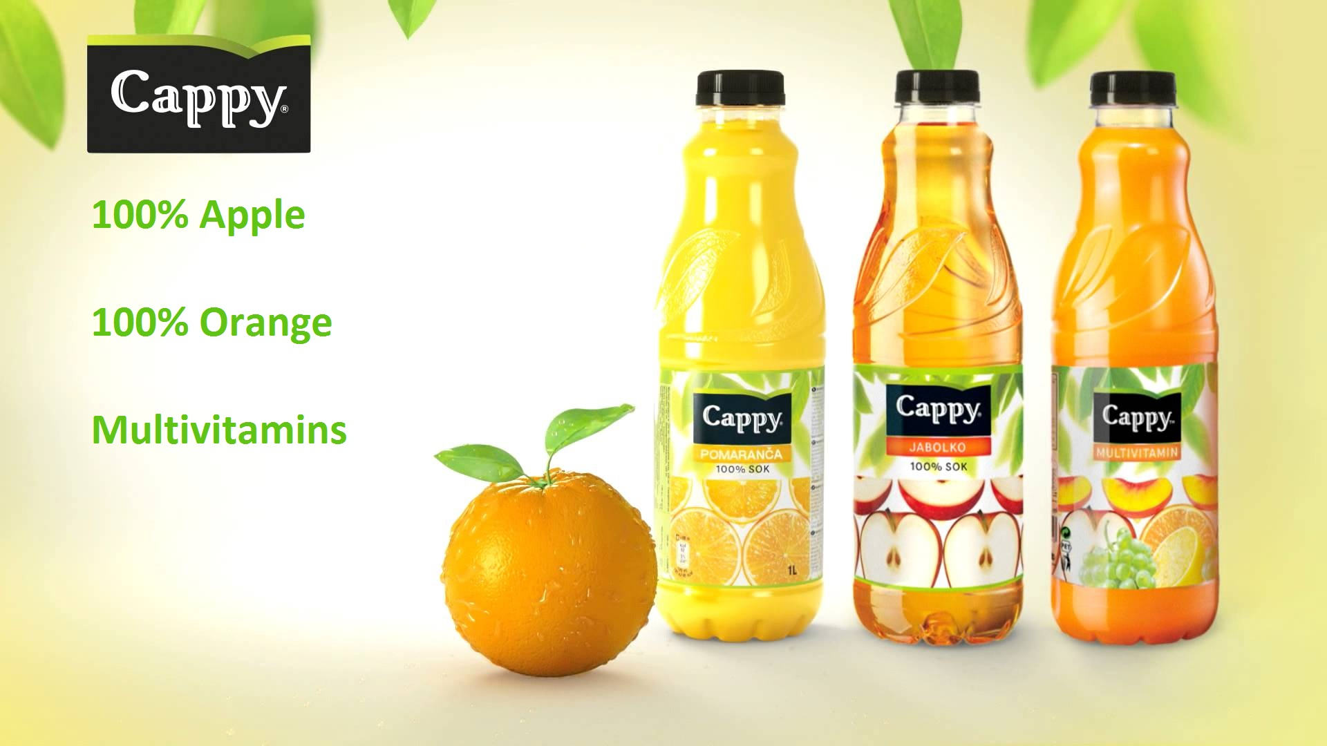 Descriere Bautura racoritoare, 330ml, CAPPY Orange