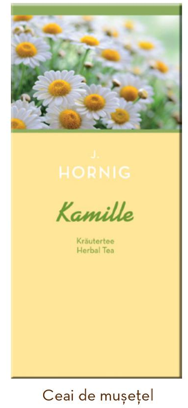 Descriere Ceai de musetel, 25 plicuri/cutie, J. HORNIG